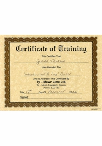 Certificate of Training, Intro to Lime