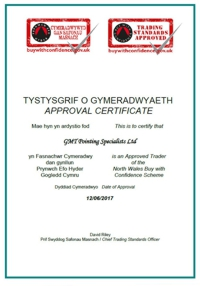 Trading Standards Approval Certificate