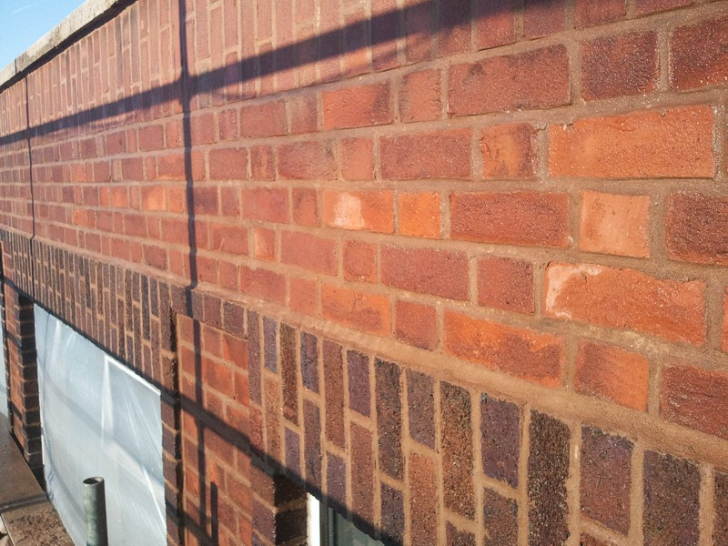 Large scale brickwork repair and pointing